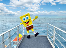 Children's TV icon, SpongeBob SquarePants explores the Quicksilver pontoon!